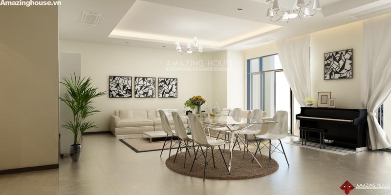 Thiết kế nội thất Thăng Long number one – Chủ đầu tư: Chị Vân