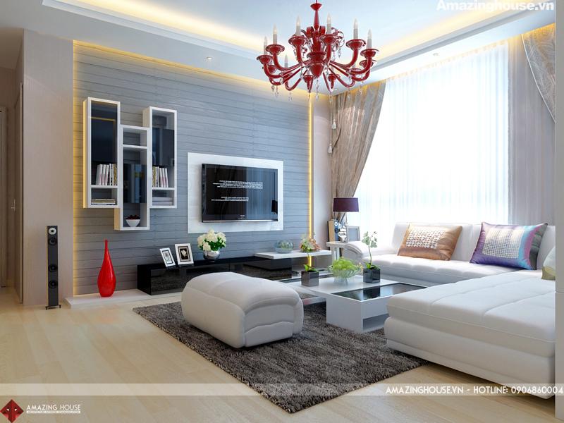 Thiết kế nội thất chung cư Hyundai Hillstate chị Hoa