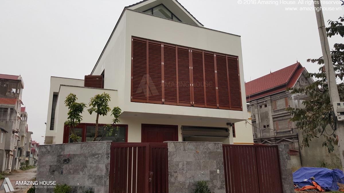 Hình ảnh trong quá trình thi công biệt thự nhà anh Giáp Lạng Sơn