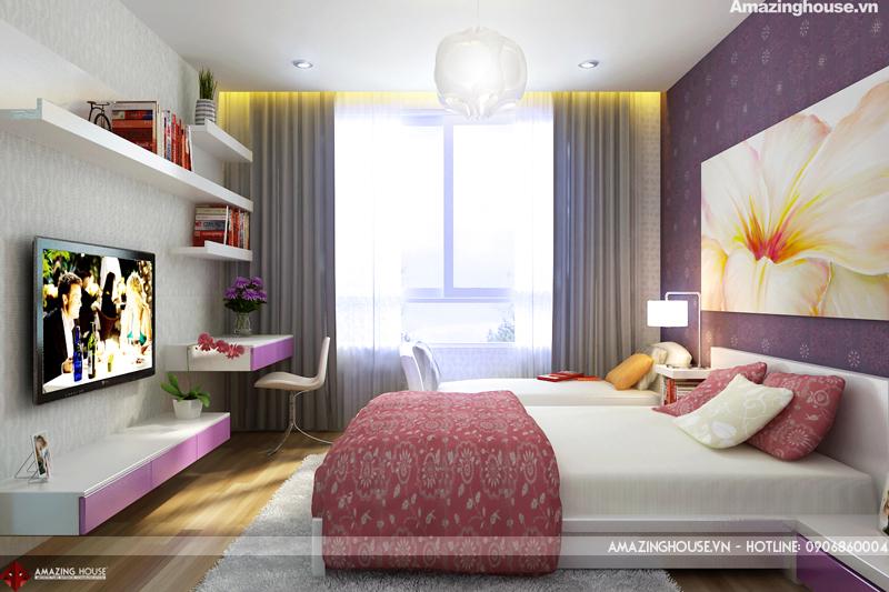 Thiết kế nội thất chung cư Hyundai Hillstate chi Hoa