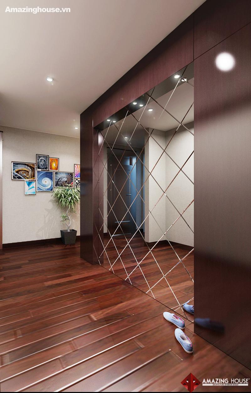 Thiết kế nội thất chung cư Hyundai Hillstate loại G 168m2