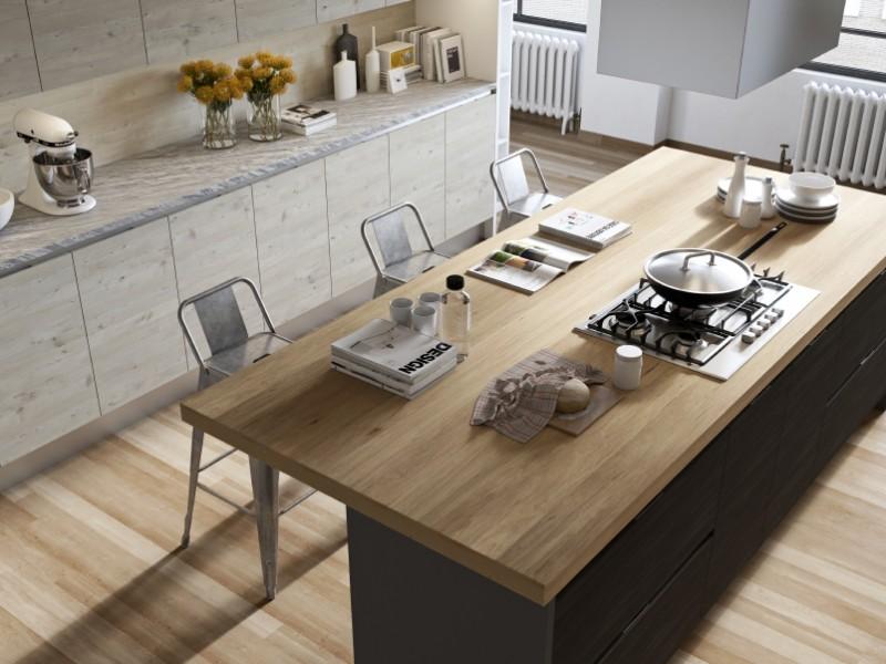 Phá vỡ sự đơn điệu cho nội thất phòng bếp