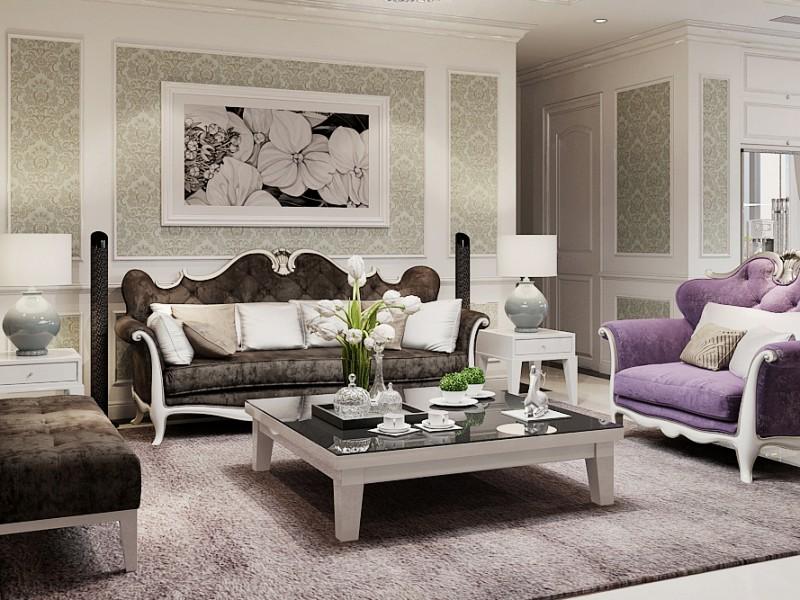 Cận cảnh căn hộ với nội thất tân cổ điển tại Golden Land – nhà chị Lê