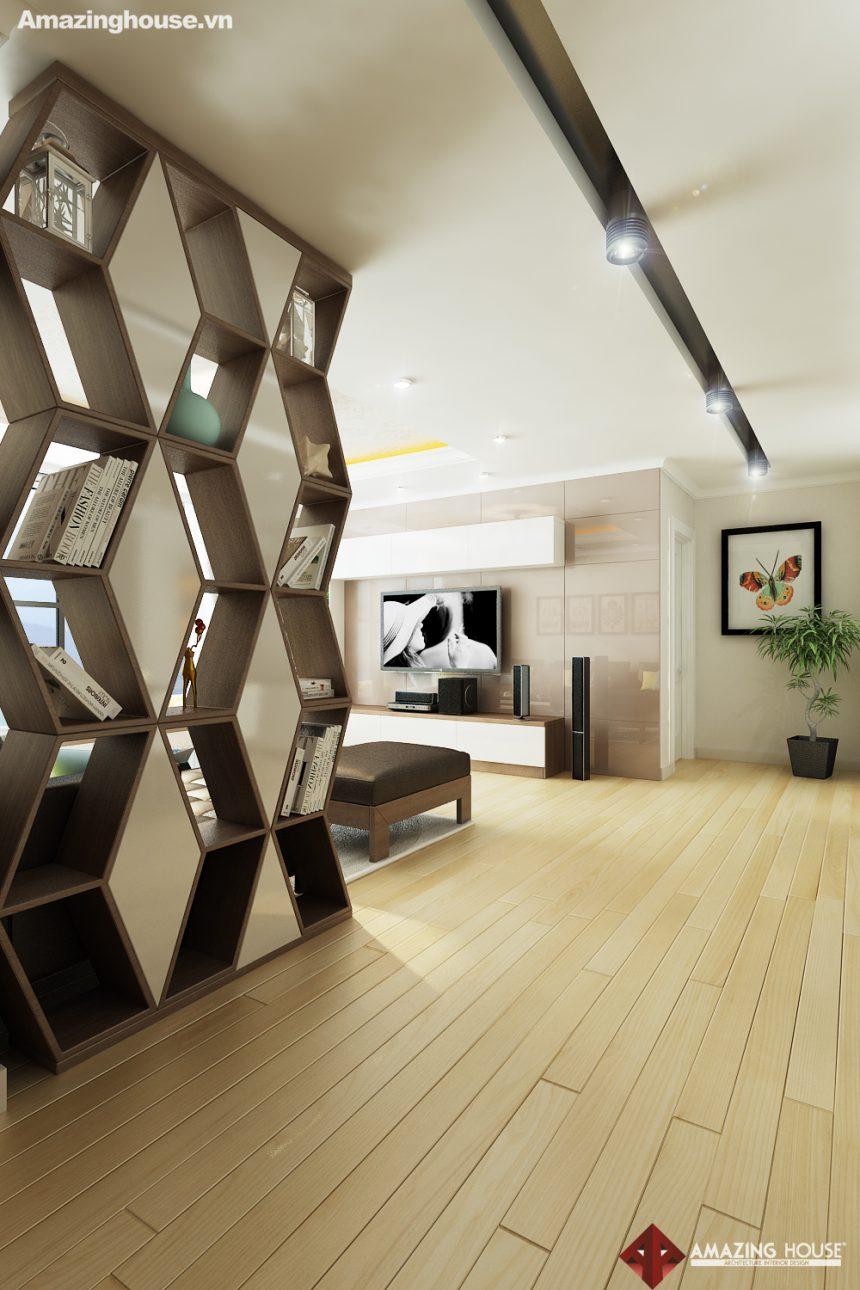 Thiết kế nội thất Green Stars – Nhà anh Minh