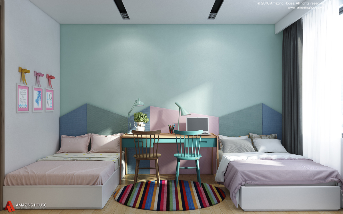 Không gian nội thất căn hộ chung cư Hyundai Hillstate