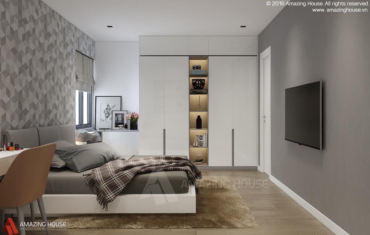 Mẫu thiết kế nội thất căn hộ chung cư Home City Trung Kính