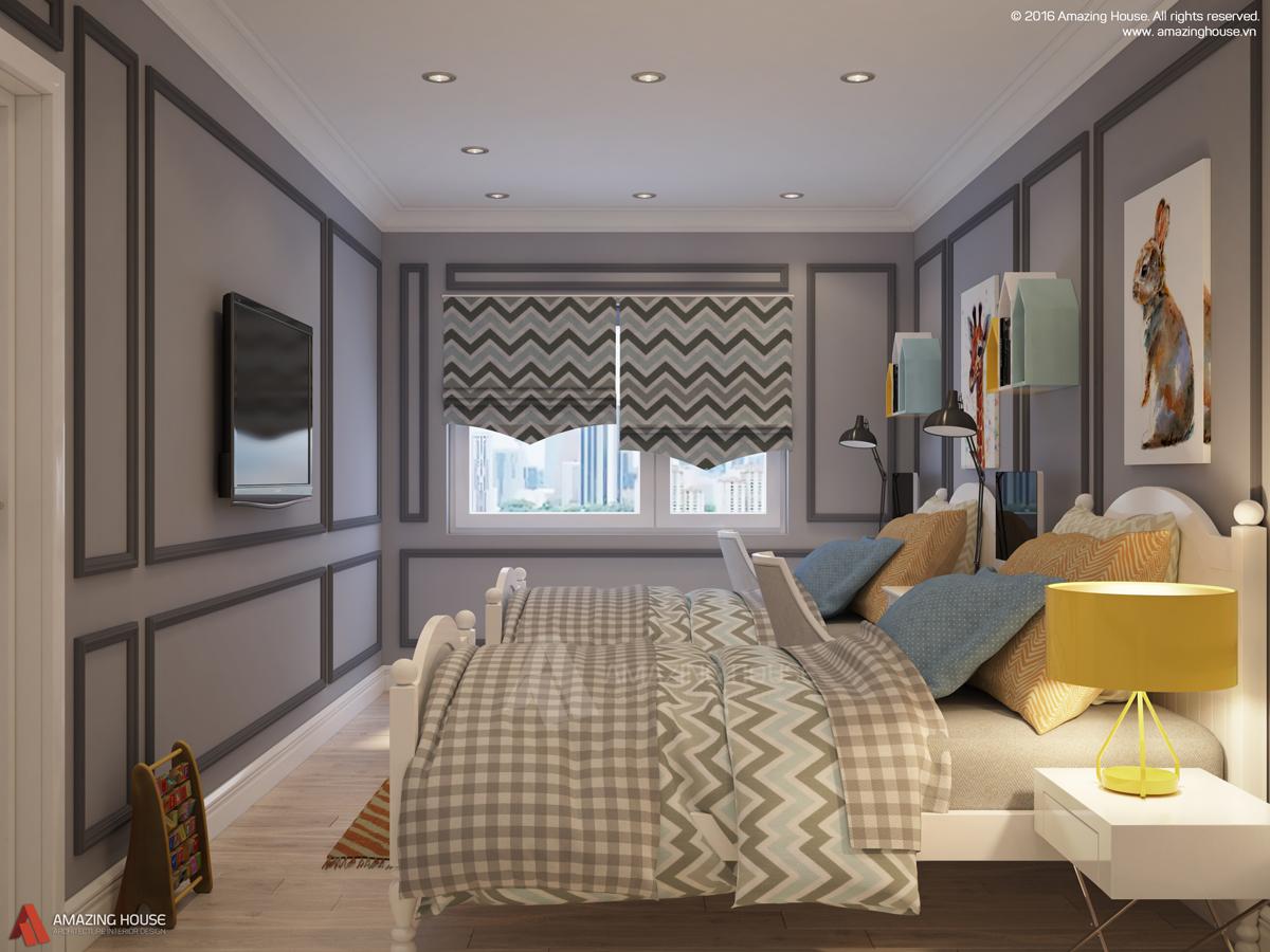 Thiết kế nội thất chung cư Mipec Riverside theo phong cách tân cổ điển