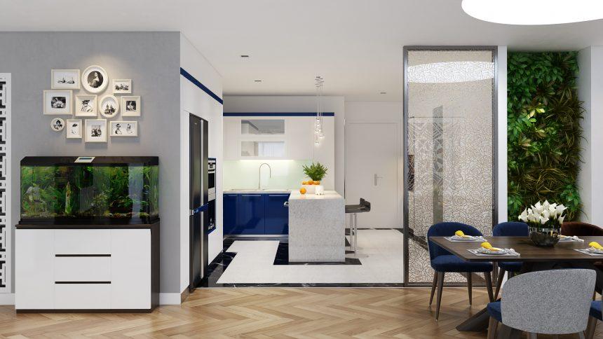 Sự phá cách trong thiết kế nội thất căn hộ chung cư nhà anh Tùng
