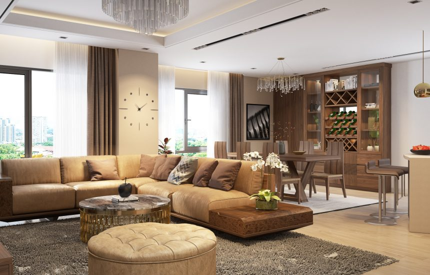 Thiết kế căn hộ hiện đại Penthouse Hoàng Ngân Plaza