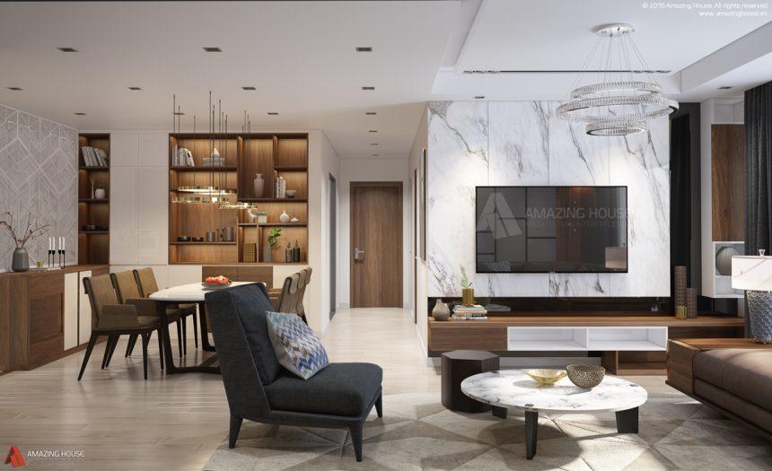 Thiết kế nội thất Ecolife Capitol nhà chú Hiền