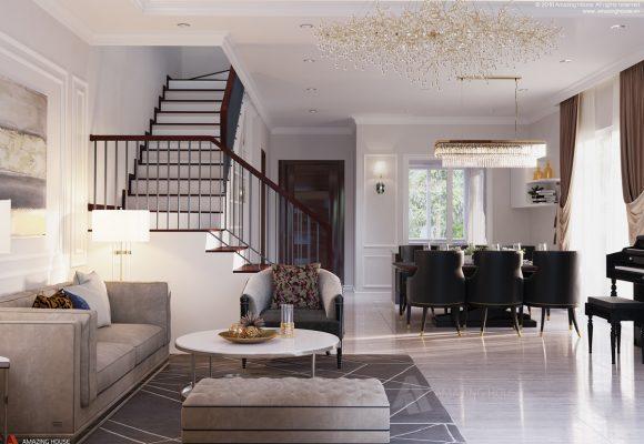 Nội thất biệt thự phong cách luxury sang trọng tại Evelyne – anh Sơn