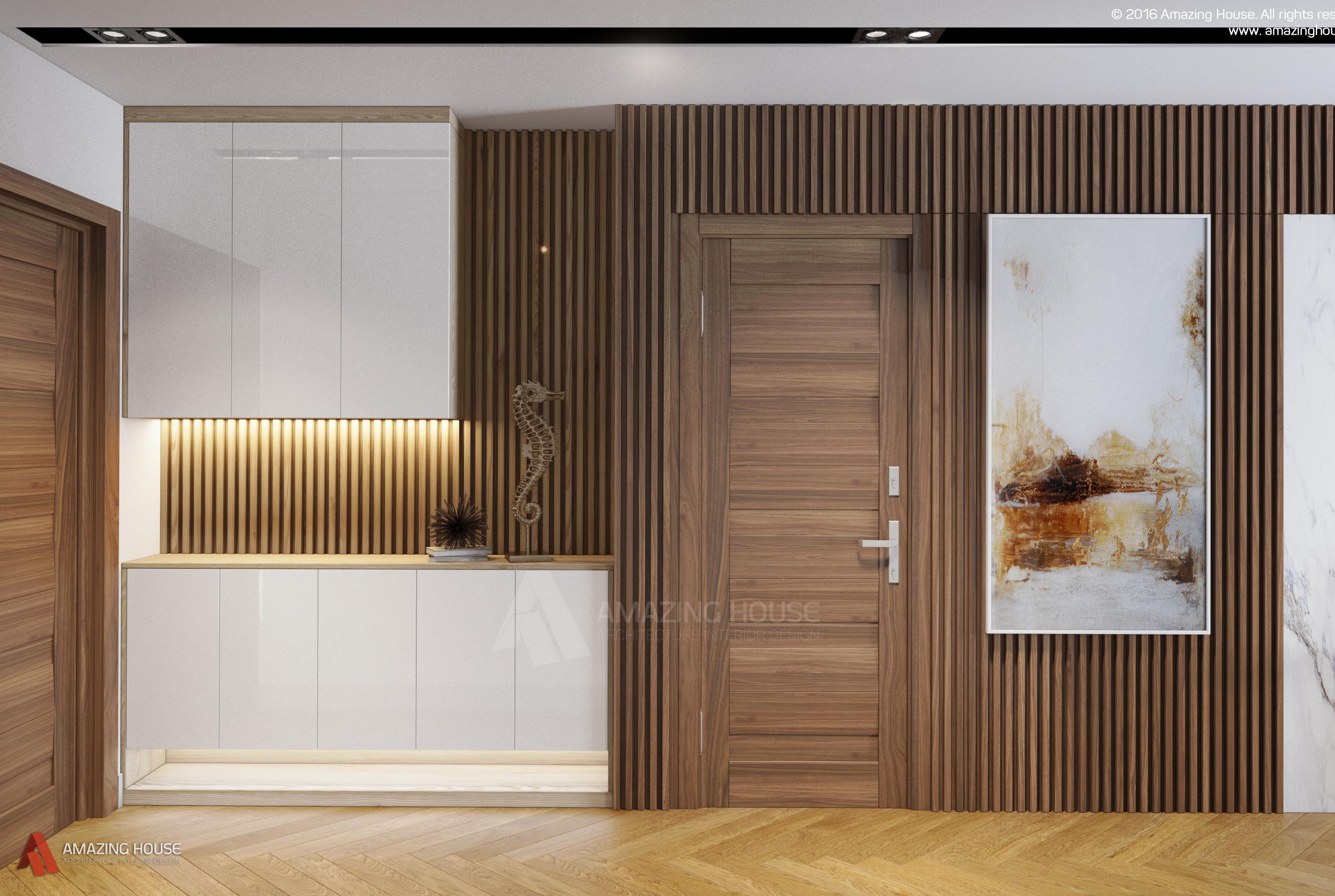 Thiết kế căn hộ gia đình anh Linh tại D' Le Roi Soleil Quảng An