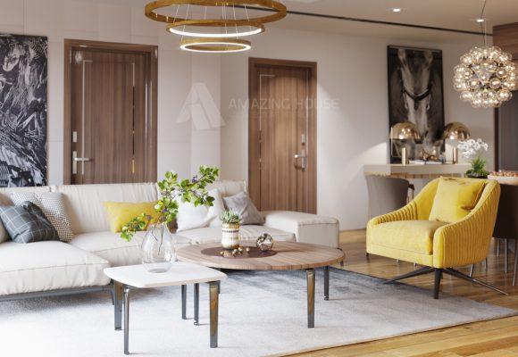 Thiết kế căn hộ chung cư hiện đại 121 m2  D' Le Roi Soleil anh Hưng