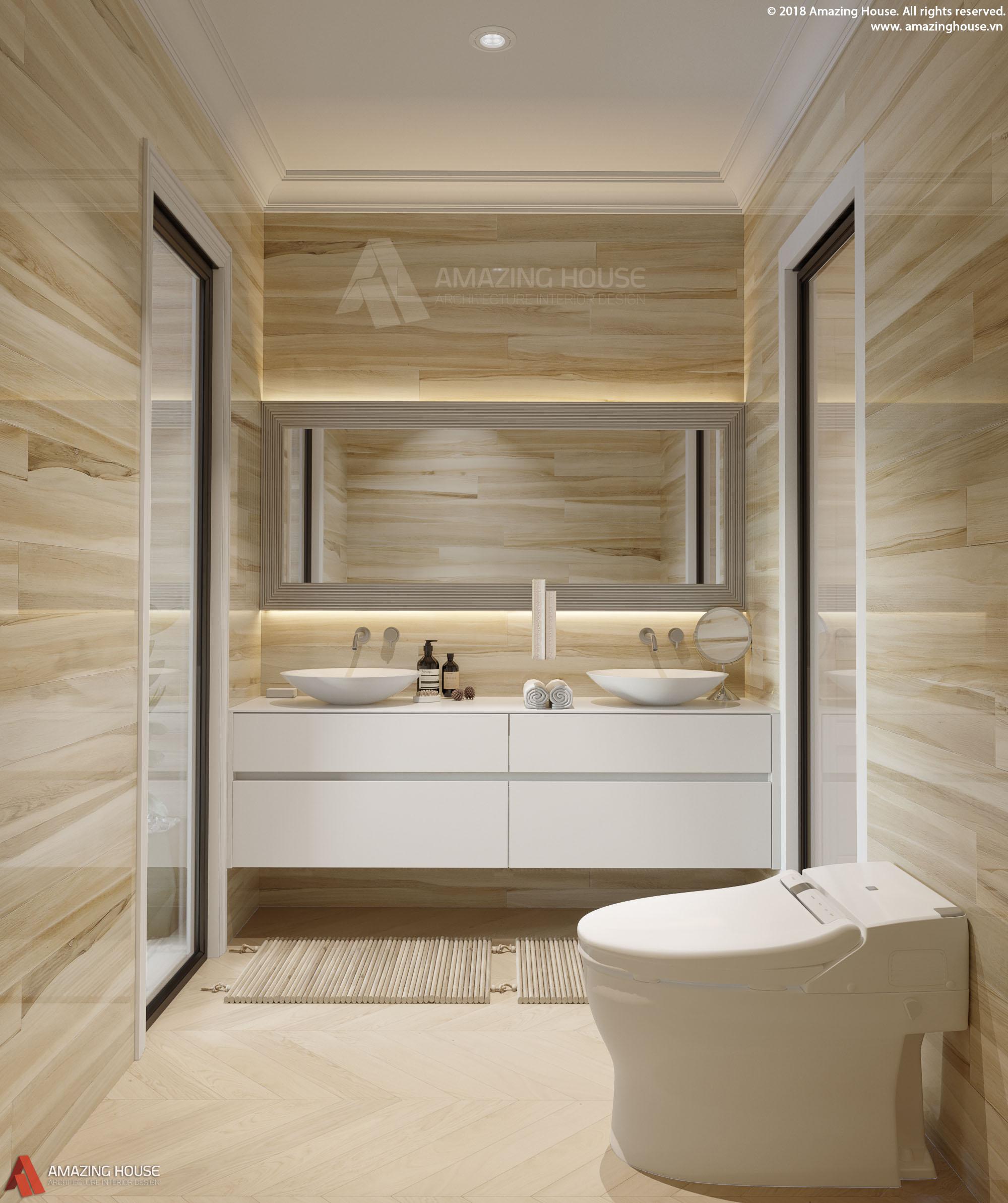 Thiết kế nội thất chung cư Vinhomes Metropolis nhà chị Giang