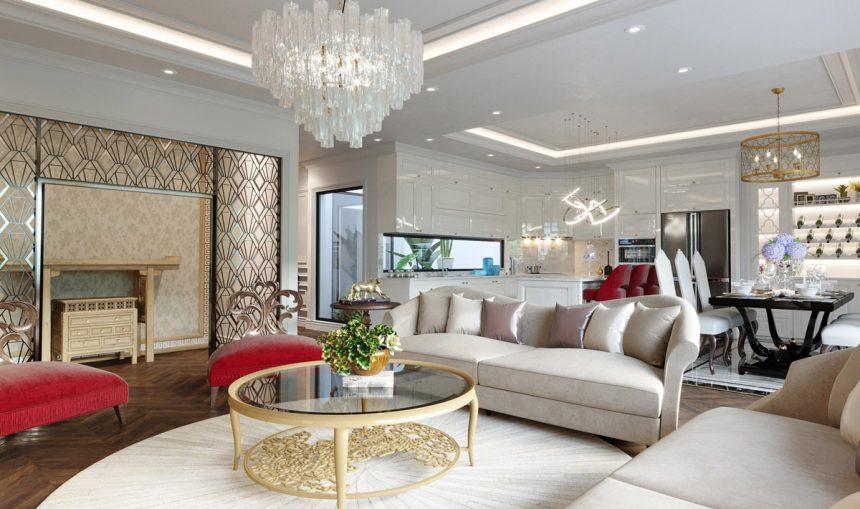 Đẳng cấp thiết kế nội thất chung cư Kosmo Tây Hồ