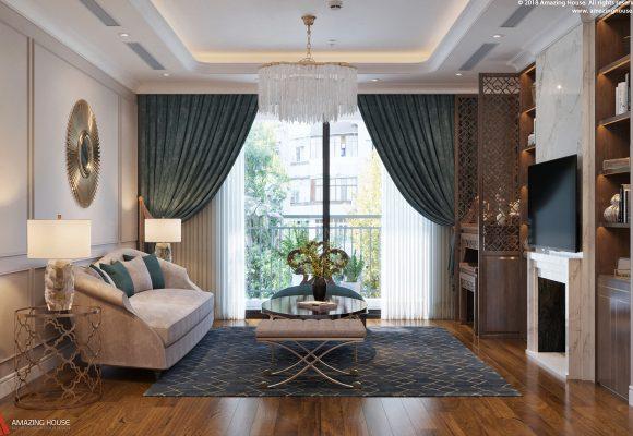 Thiết kế nội thất chung cư Goldmark City sang trọng