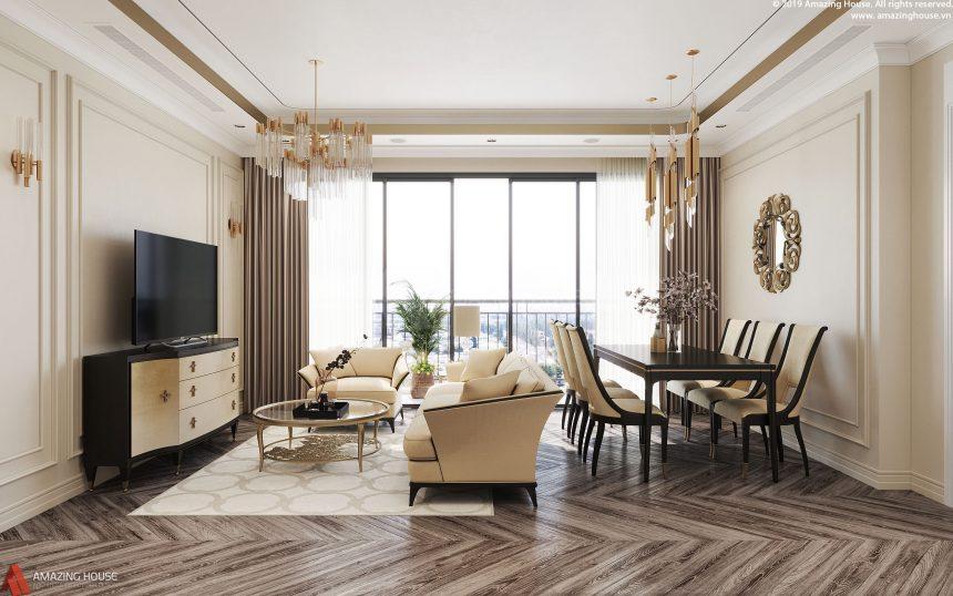 Phong cách thiết kế độc đáo căn hộ chung cư Vinhomes D' Capitale