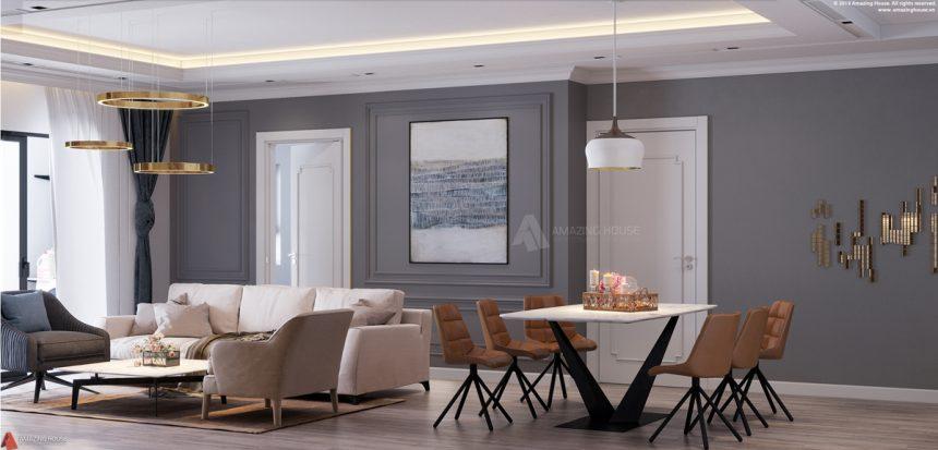 Mẫu thiết kế căn hộ chung cư Vinhomes Skylake