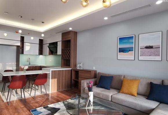 Ảnh thi công thực tế căn hộ 103m2 tại D' Le Roi Soleil – Quảng An