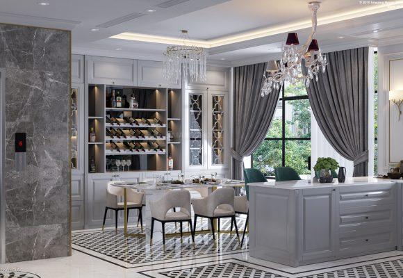 Thiết kế nội thất biệt thự Vinhomes Marina Hải Phòng
