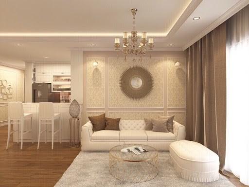 Gam màu trắng mang đến sự ấm cúng và tràn đầy sức sống cho căn hộ