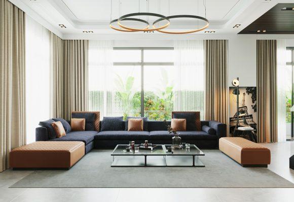 Thiết kế nội thất biệt thự Ecopark – Cảm hứng từ phong cách hiện đại