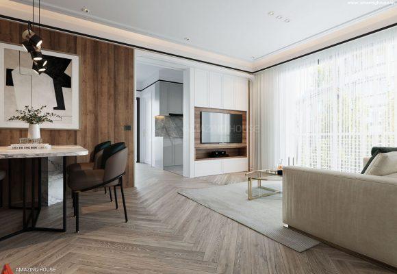 Thiết kế nội thất căn hộ 3 phòng ngủ tại Vinhomes Ocean Park