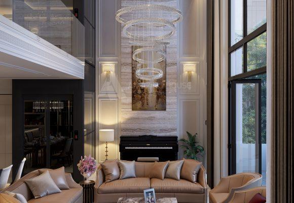 Không gian siêu sang tại nội thất biệt thự The Mansion – Park city – Hà Nội