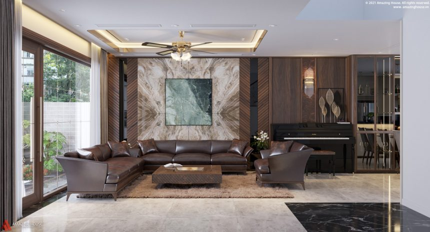 Thiết kế thi công nội thất căn liền kề tại Gamuda Garden