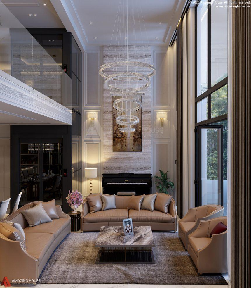 Thi công nội thất biệt thự loại C The Mansions – Park city Hà Nội